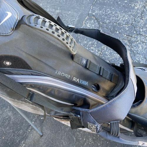 Nike Golf Bag Black Silver Stand Bag 8 Divider