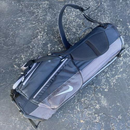 Nike Sport Golf Black Silver Stand Bag 8 Way Divider With Hood