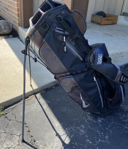 air sport stand golf bag black silver