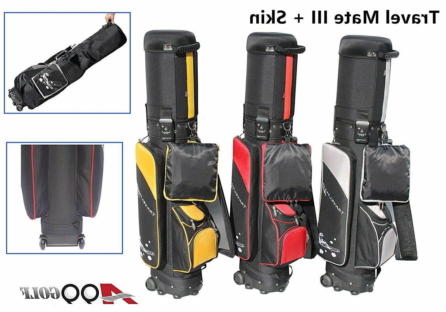 A99Golf Travel Mate w.travel Cover CarryOn Case Wheel airlin