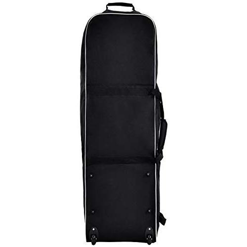 Tangkula Black Foldable Bag Travel Golf Bag Wheel Lightweight