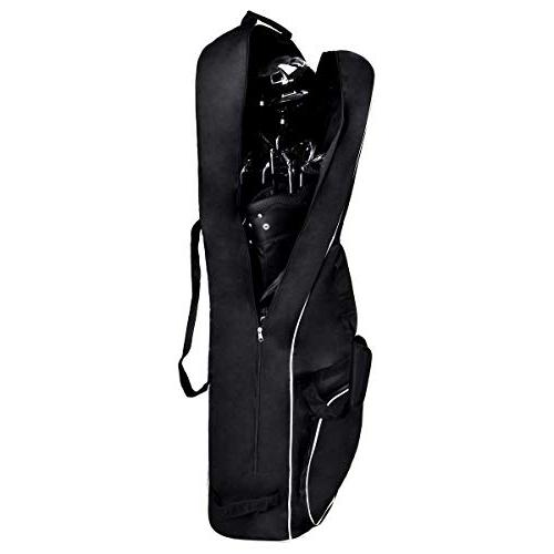black foldable golf bag cover