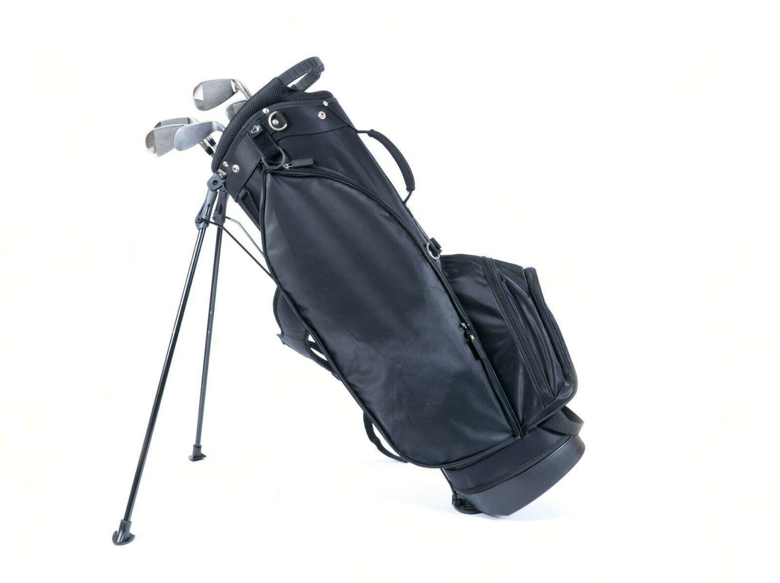 black lightweight stand golf bag