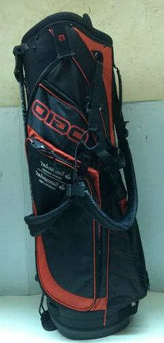 OGIO Black W/RED Ops 8-way Stand Golf Carry Bag SANTANDER BA