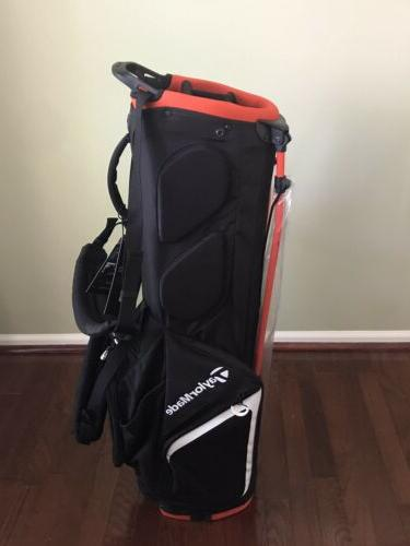 Brand New 2019 TaylorMade Flextech Stand Bag Black/Blood Orange