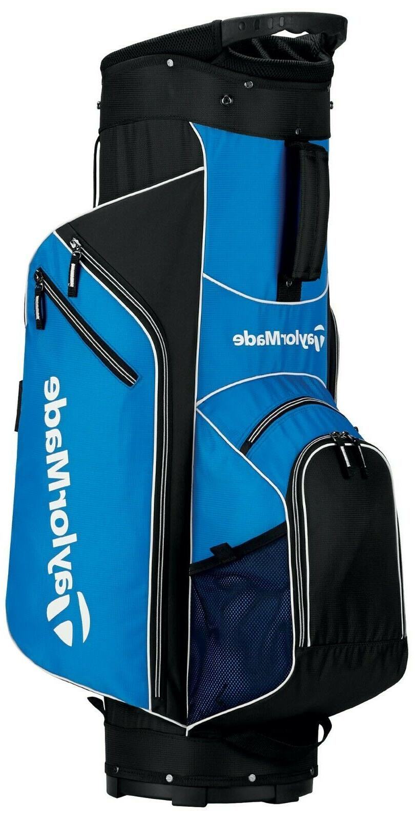 brand new black and blue cart golf