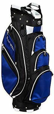 Hot-Z Golf 4.5 Cart Bag Black/Navy/White