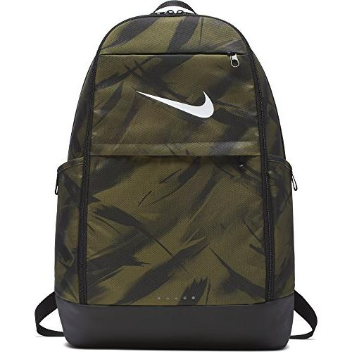 brasilia all over print backpack olive flak