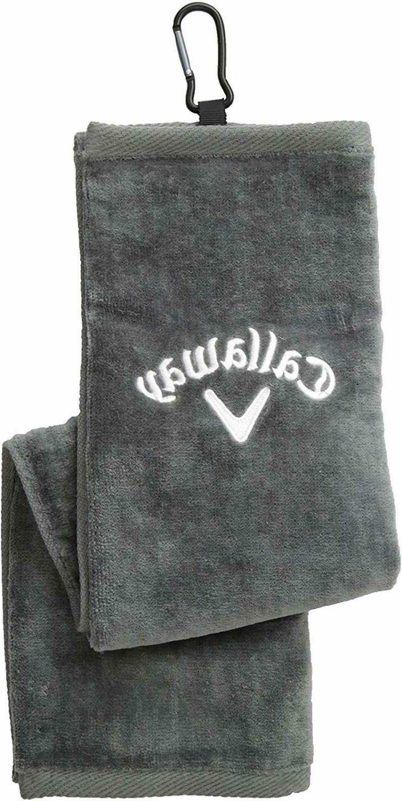 Callaway Golf 2018 Uptown Towel Grey Slim 21 Inch x 16 Inch