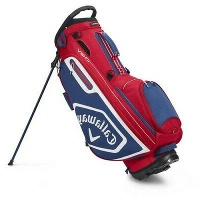 chev stand golf bag 2020 red navy