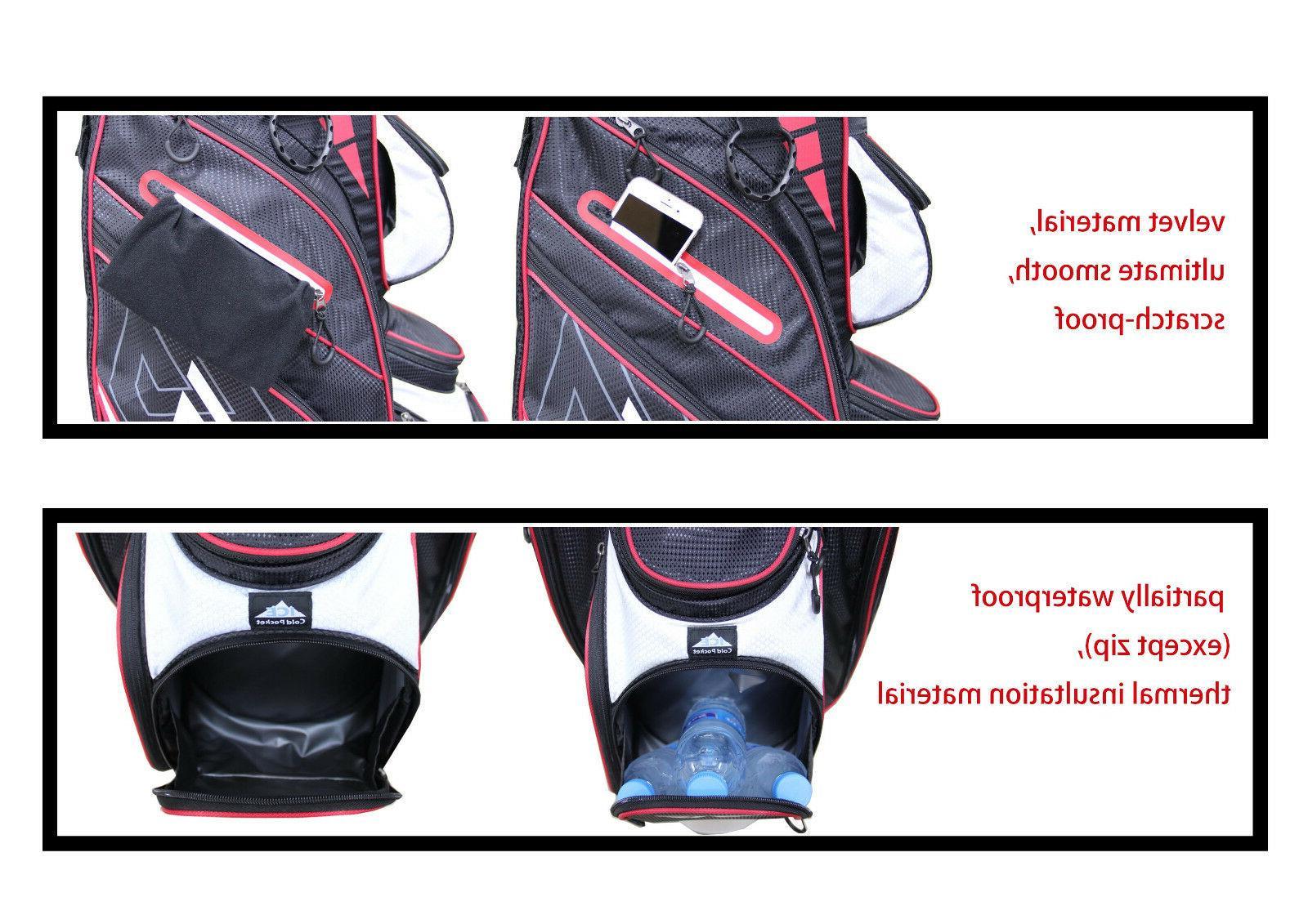 EG Eagole 14 Way Full Length Divider,10 Pockets Golf Cart Bag