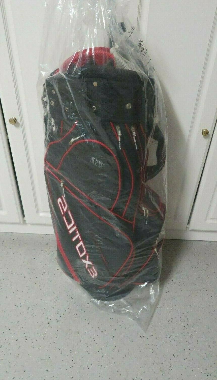 exotics golf bag red white black lots