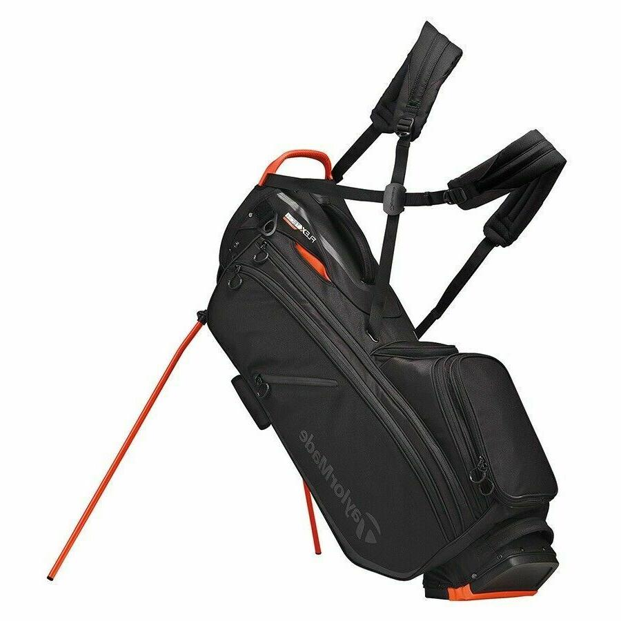 flextech crossover stand golf bag blood orange