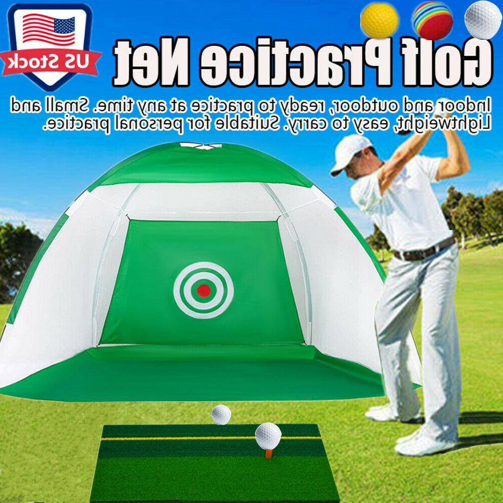 foldable golf hitting cage training aids in