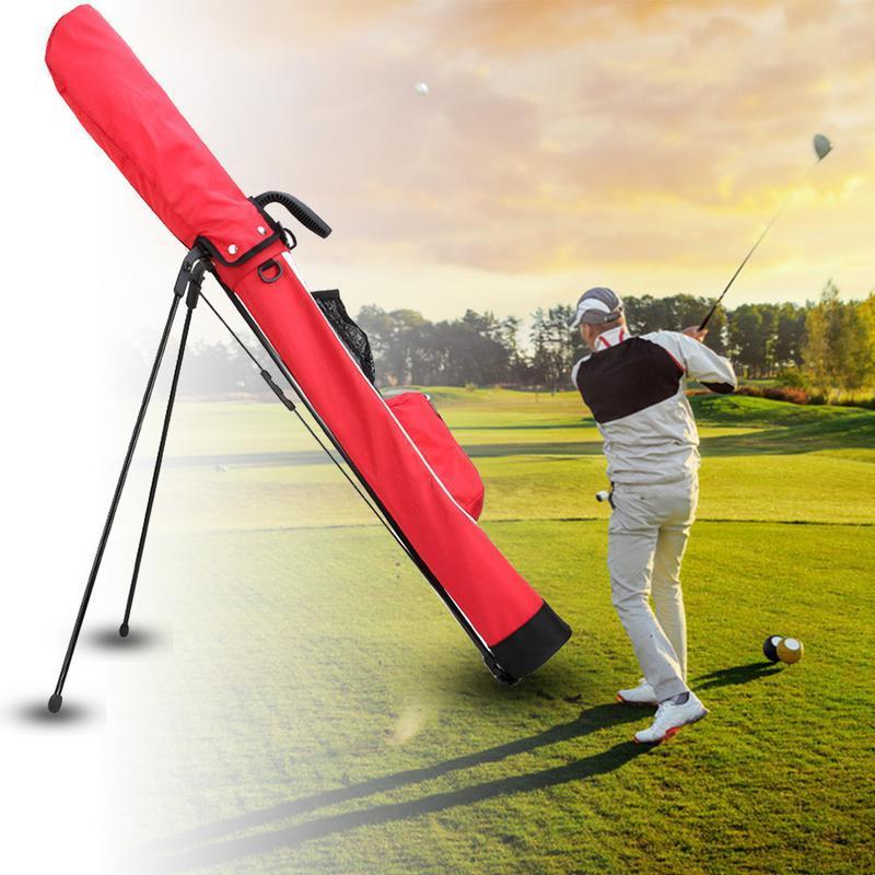 <font><b>Golf</b></font> <font><b>Bag</b></font> Super Large Capacity Black Red Lightweight Carry With Pocket 2019 New Arrival
