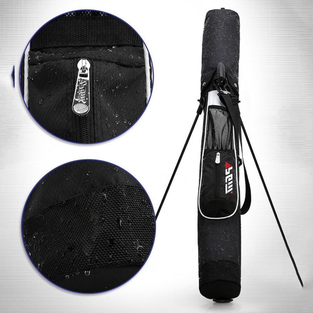 <font><b>Golf</b></font> Stand Rack Super Black Red Lightweight Carry Nylon <font><b>Bag</b></font> With Pocket Arrival