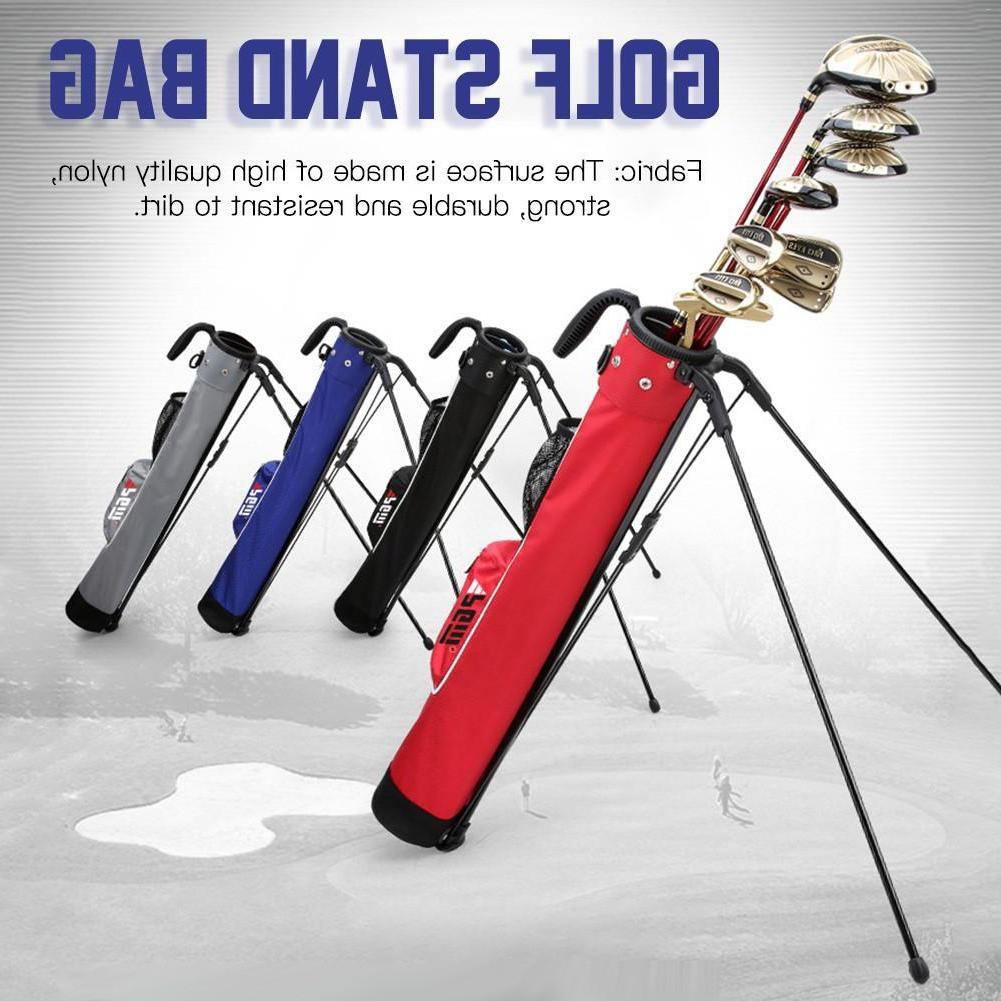 <font><b>Golf</b></font> Stand Super Black Red Blue Lightweight Nylon With Pocket New Arrival