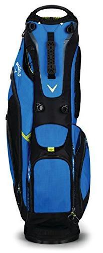 Callaway Golf 2018 Fusion Stand Bag, Blue/ Black/ Neon Yello