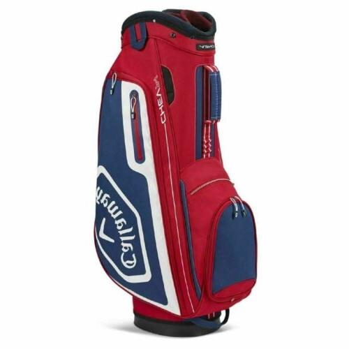 Callaway Chev 14 way Cart Bag-Red-Navy-White
