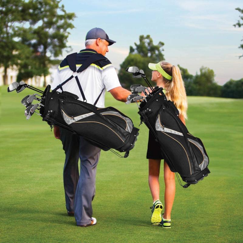 Tangkula Golf Way Light Portable Golf Cart Bag Waterproof