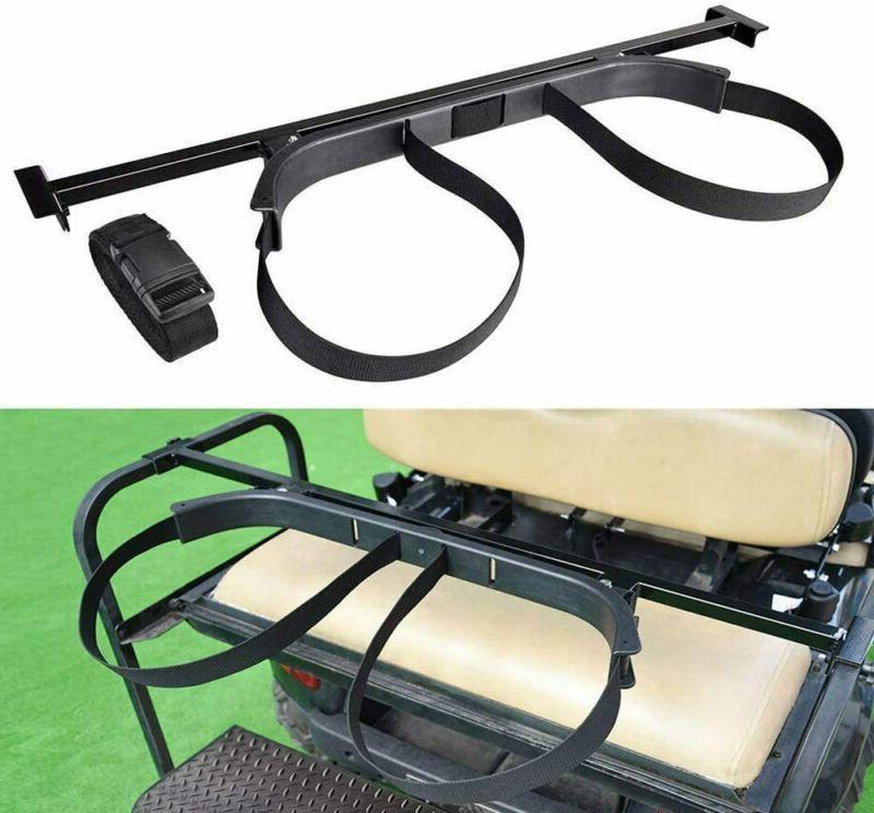 golf bag holder bracket attachment cart rear