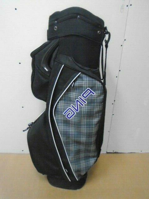 golf cart bag serene black plaid