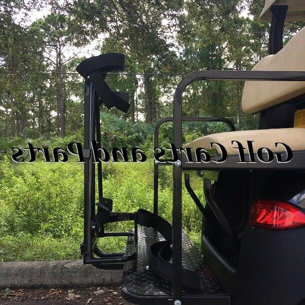 golf cart golf bag attachment w grab