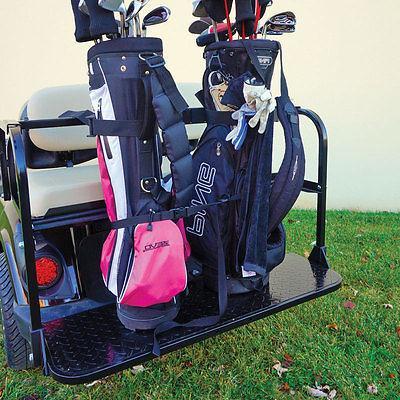 golf cart rear seat golf bag holder
