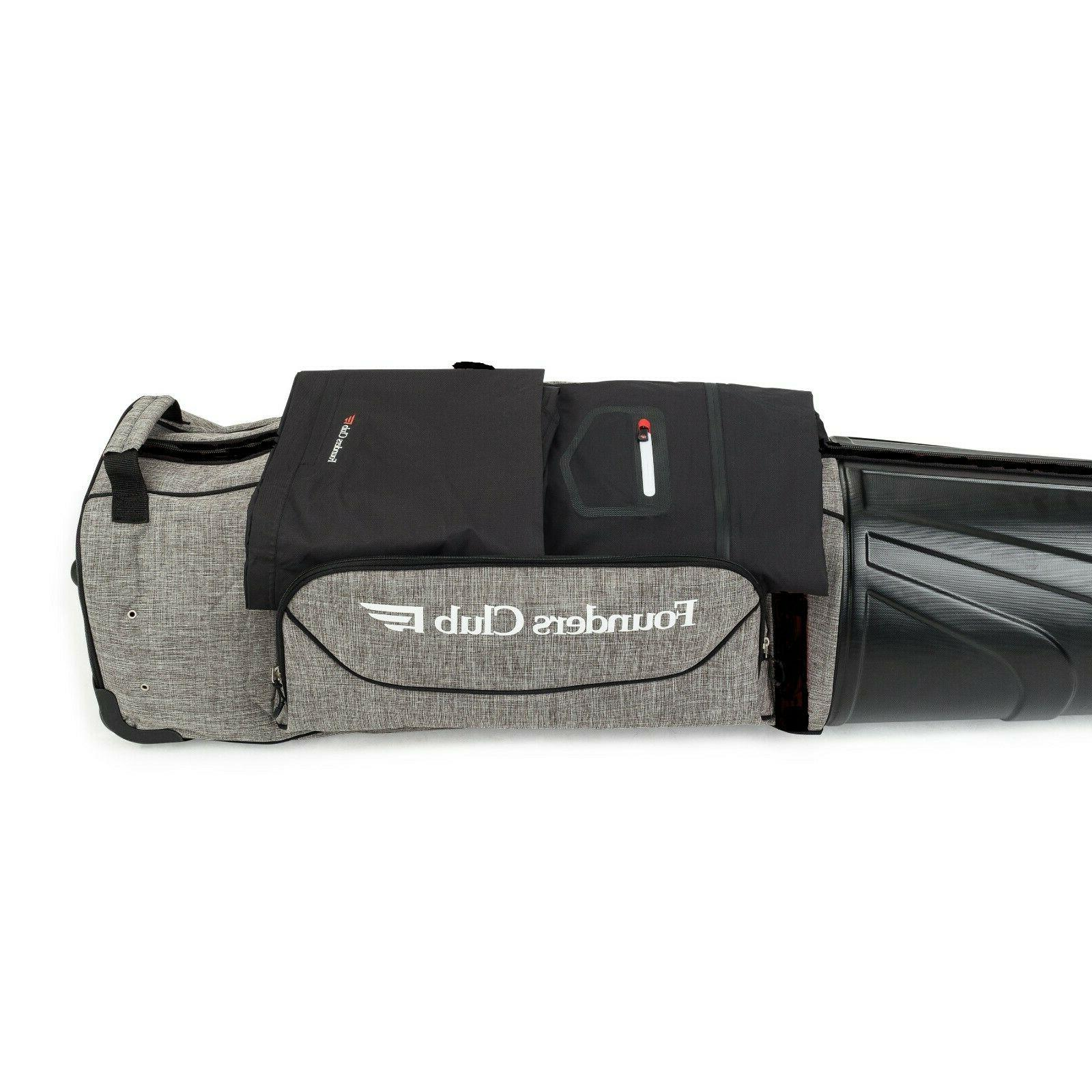 Founders Club Travel Bag Luggage with Shell Top
