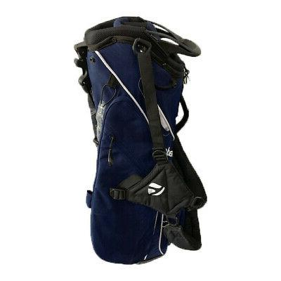 golf college carry stand bag navy