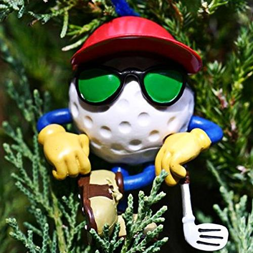 golf decor hanging christmas tree