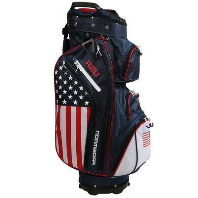 Prosimmon 14 Way Cart Bag, Flag