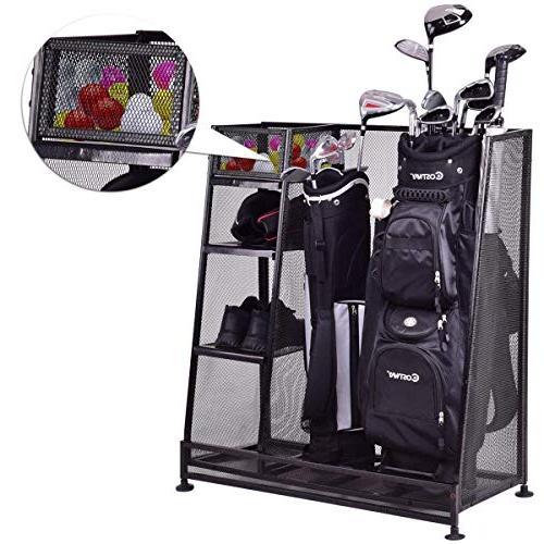 golf durable metal storage rack