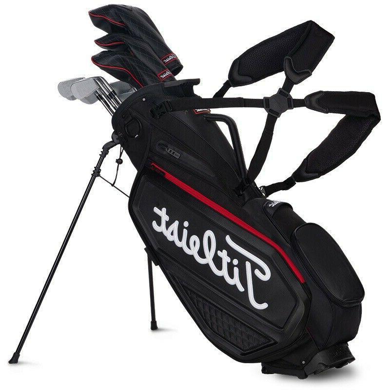golf premium stand bag jet black new