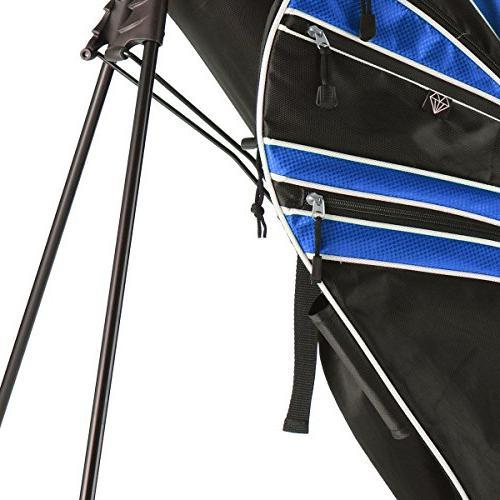 Tangkula Stand Bag w/6 Way Divider Carry Organizer Storage