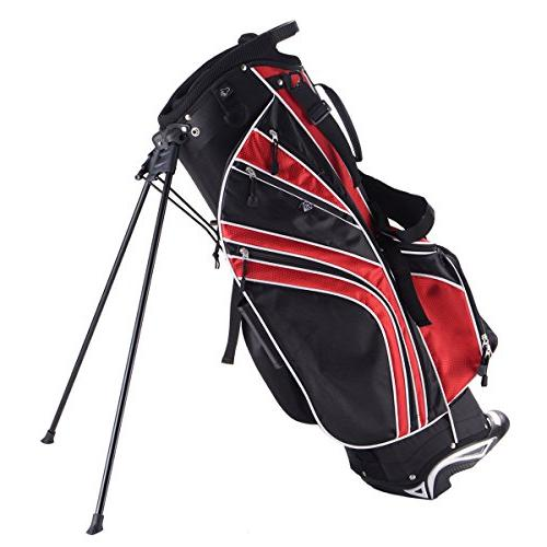 golf stand bag w 6 way divider