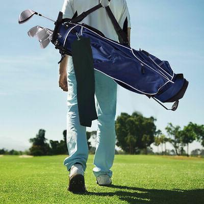 Golf Stand Club Way Carry Pockets Storage Blue