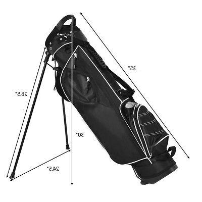 Golf Cart Club Way Divider Carry Pockets Black