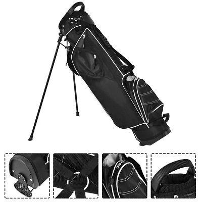 Golf Stand Bag Club w/4 Way Carry Black