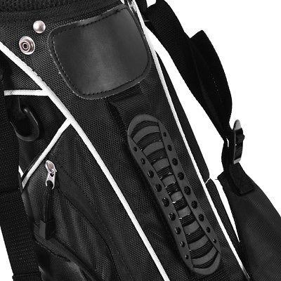 Golf Stand Club w/4 Carry Organizer Storage Black
