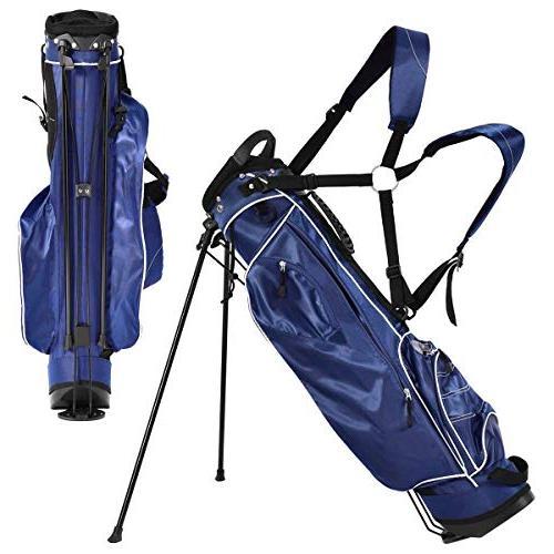 Tangkula Bag Lightweight Organized Golf Bag Carry Shoulder Bag Storage, Blue
