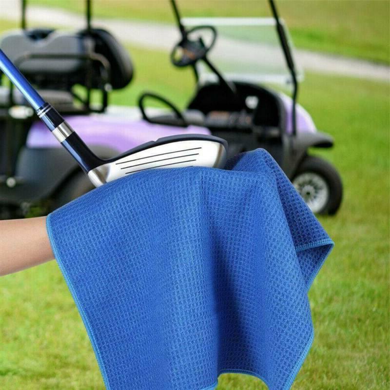 golf towel microfiber blue new large waffle