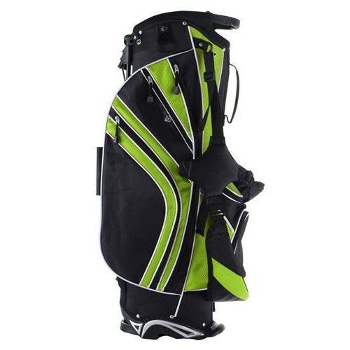 Green Golf Bag w/6 Divider Carry Storage