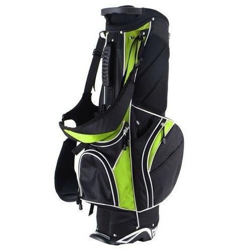 Green Golf Stand Bag Club w/6 Divider