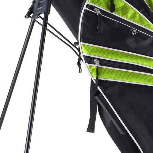 Green Golf Stand Bag Club w/6 Divider Storage