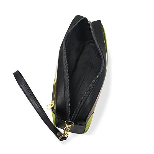 ALAZA Hipster Ball in Grass Leather Pen Pencil Case Pouch Case Makeup Cosmetic School Bag