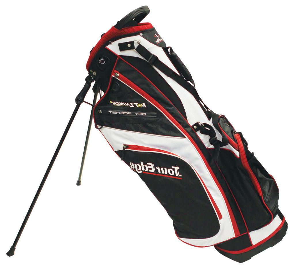 hot launch 2 stand bag black white