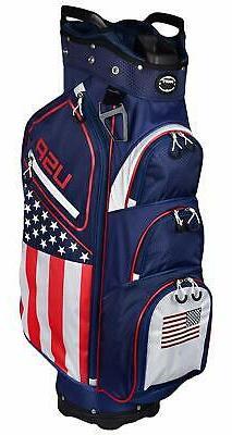 Hot Z Golf 2020 USA Flag Cart Bag  NEW