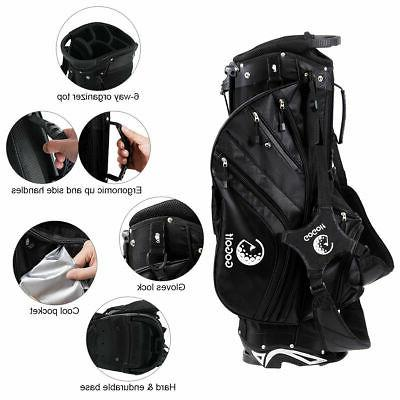 Hyper-Lite Golf Stand Cart Bag w/Shoulder Rain Cover