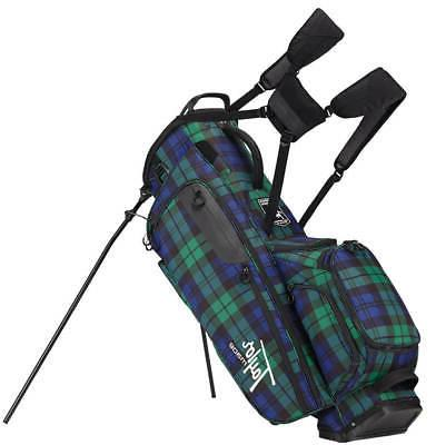 lifestyle flextech stand bag blue plaid golf